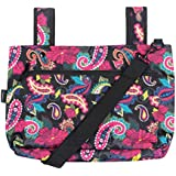 Snapster Snap On Tote Bag for Walker, Stroller or Shopping Cart (Black Paisley)