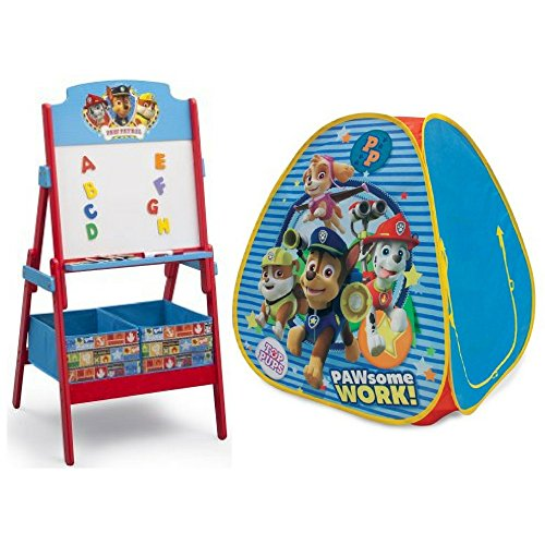 Nickelodeon Paw Patrolアクティビティイーゼルand Paw Patrol Classic Hideawayおもちゃバンドル、Preschoolアートアクティビティ、Funごっこ遊び、学習、創造性、教育玩具ギフトセットfor Kids