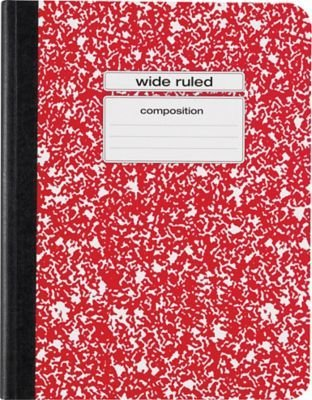 Staples Composition Notebook, Wide Ruled, 9-3/4