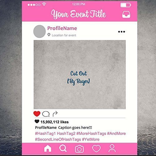 Pink Instagram Frame Instagram Prop For Parties Cutout