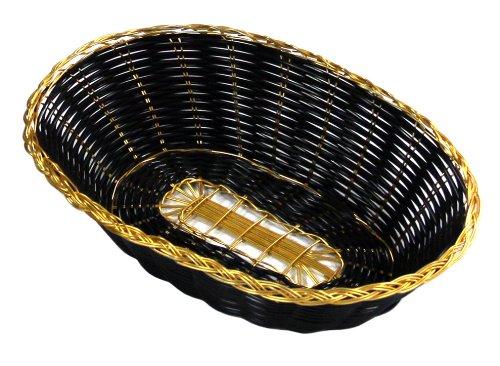 New Star Foodservice 44256 Polypropylene Oval Hand Woven Food Basket (Set of 12), 9
