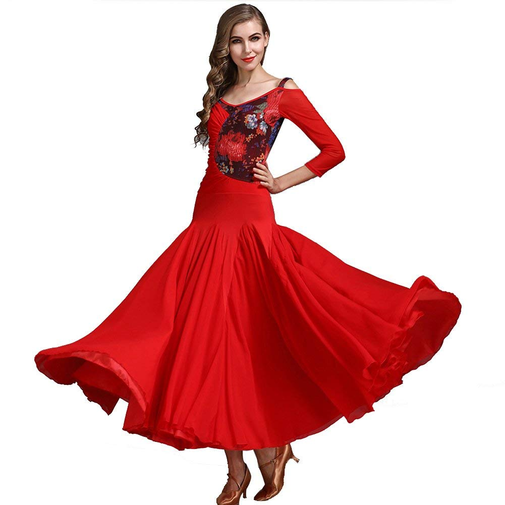 Modern Dance Skirt Retro Cheongsam Collar Ballroom Dance Skirt Skirt Ballroom Dance Skirt Waltz Skirt