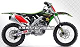 Kungfu Graphics Rockstar Custom Decal Kit for Kawasaki KX250F KXF250 2009 2010 2011 2012 2013 2014 2015 2016, Black White Red