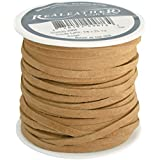 "Realeather SOS25-2008 Sof-Suede Lace, 1/8""x25-yard Spool, Beige"