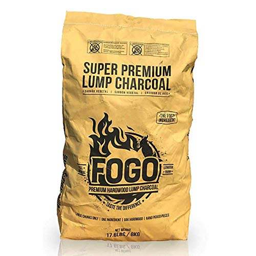 Fogo Super Premium Oak Restaurant All-Natural Hardwood Lump Charcoal for