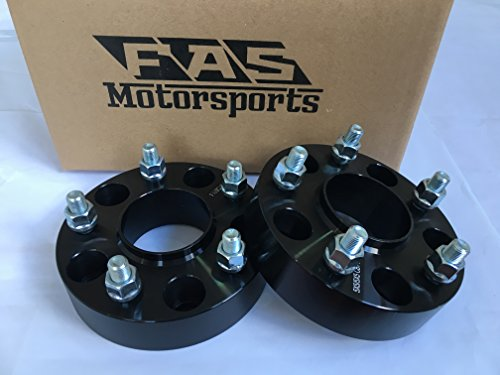 4PCs 38.1mm (1.5″) 5×5 Hubcentric Black Custom Wheel Spacers 71.5mm bore, 1/2″-20 Studs & Nuts) for Jeep Wrangler/Commander/Grand Cherokee, etc.