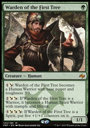 Amazon.com: Magic: the Gathering - Warden of the First Tree (143/185 ...