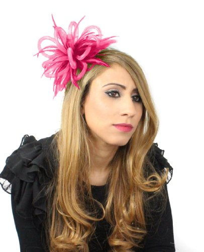 Mini Crin Feather Fascinator - Pink by Hats By Cressida