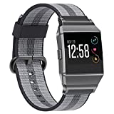 for Fitbit Ionic Bands, SnowCinda Release Sports Woven Nylon Bracelet Strap Band for Fitbit Ionic Women Men