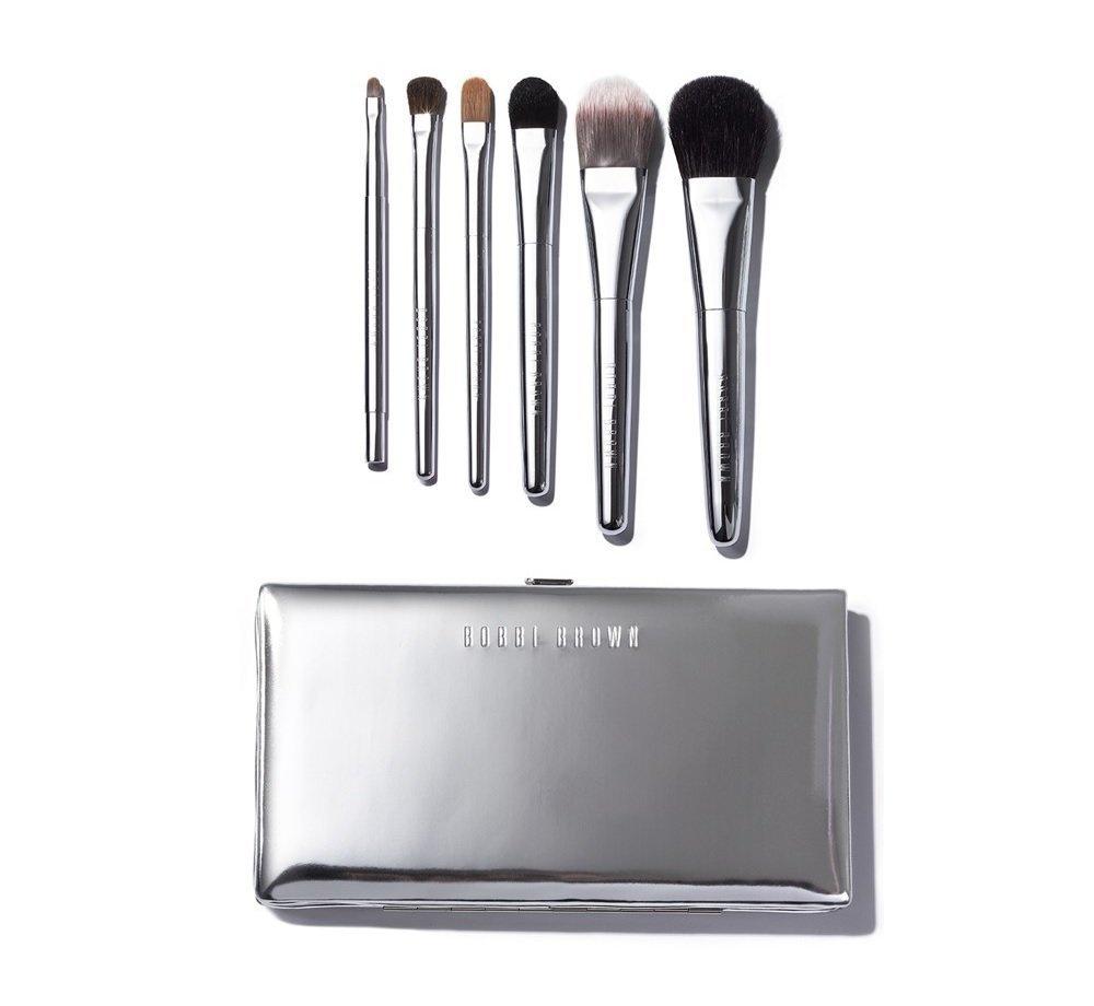 Bobbi Brown Travel Brush 7 Piece Silver Luxury Set