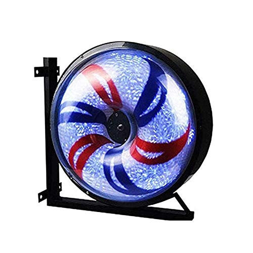 - LED Barber Pole Light Hair Salon Sign Pole Aluminum Windmill Light Illuminated Salon Rotating Porch Attractive Sign Waterproof Save Energy Barber Shop Turn Light 58x32X58cm