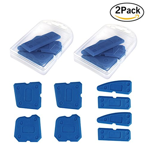 Tile Bead Kit (Aonesy 8 pcs Caulking Tool Scraper Kit Joint Sealant Finishing Tool Silicone Grout Remover For Bathroom Kitchen and Floor Sealing)