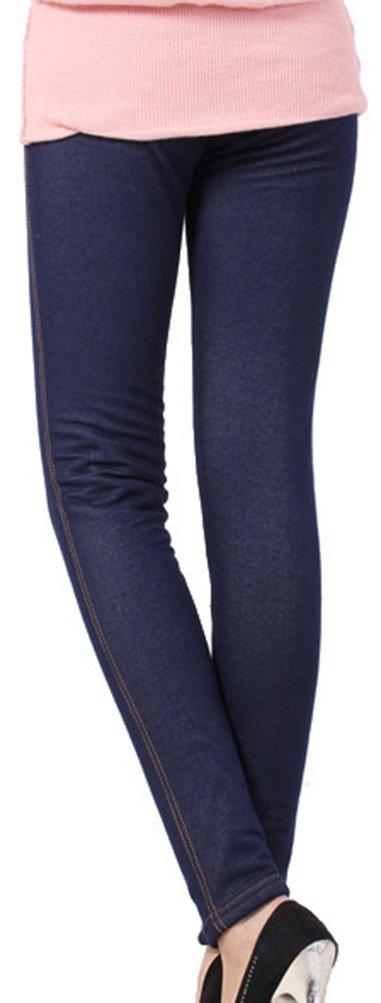 Lovful Women's Winter Warm Denim Legging Fake Jeans Thick Full Length Leggings Fleece Lined Jeggings,Dark Blue by Lovful (Image #5)