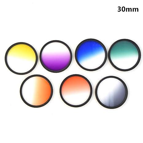 7 filtros graduados de 30 mm para Lente de cámara réflex Digital ...