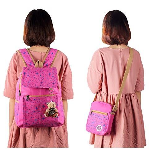 8fd127db7865 new Veenajo Girls Lightweight Canvas School Backpack Set Cute Patterned  Bookbag Shoulder Bags