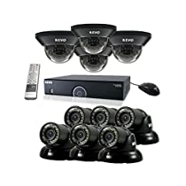 REVO America R165D4GT6G-2T 16 Ch. 2TB 960H DVR Surveillance System with 10 700TVL 100 ft. Night Vision Cameras