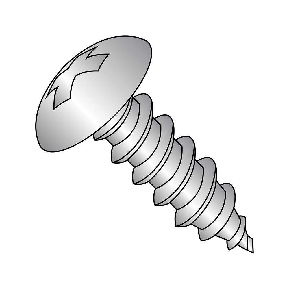 Plain Finish 1-1//4 Length 18-8 Stainless Steel Sheet Metal Screw Phillips Drive Pack of 25 Pack of 25 Type A #14-10 Thread Size 1-1//4 Length Small Parts 1420APT188 Truss Head