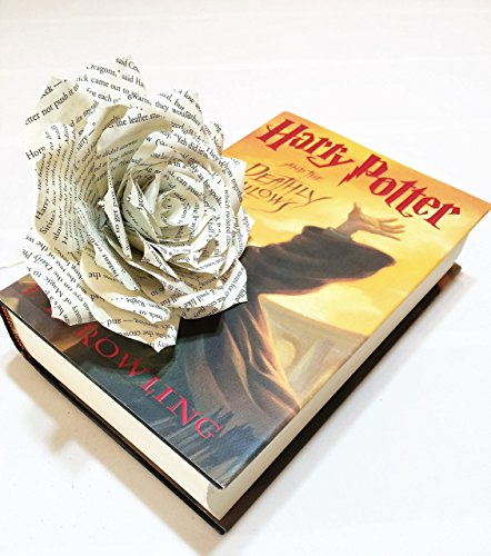 Harry Potter book page flower