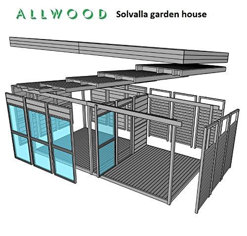 Allwood Solvalla 172 Sqf Studio Kit Cabin Garden House