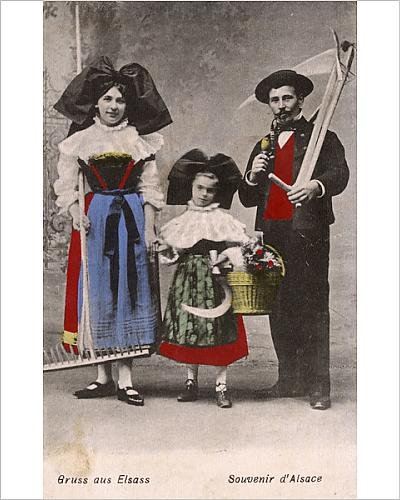 Photographic Print of Folk in the traditional costume of Alsace Lorraine