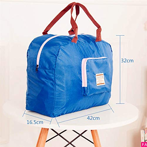 Amazon.com: Multifunctional Folding Travel Bags Waterproof Shopping Reusable Pouch Tote Handbag Large Capacity Portable Luggage Bag: Kitchen & Dining