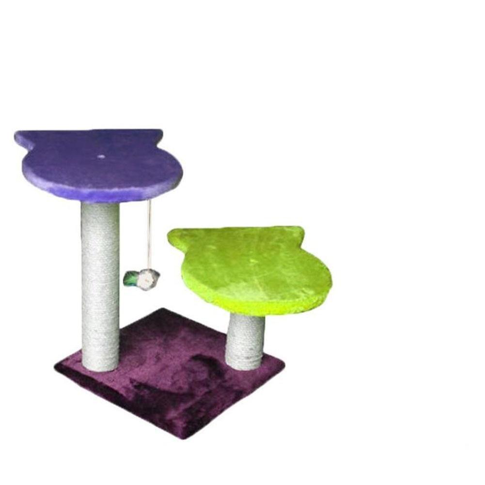 Myyxt Cat Climbing Rack Platform Plush Flannel Material sisal Wear Scratch-resistant Pillar Toys , B