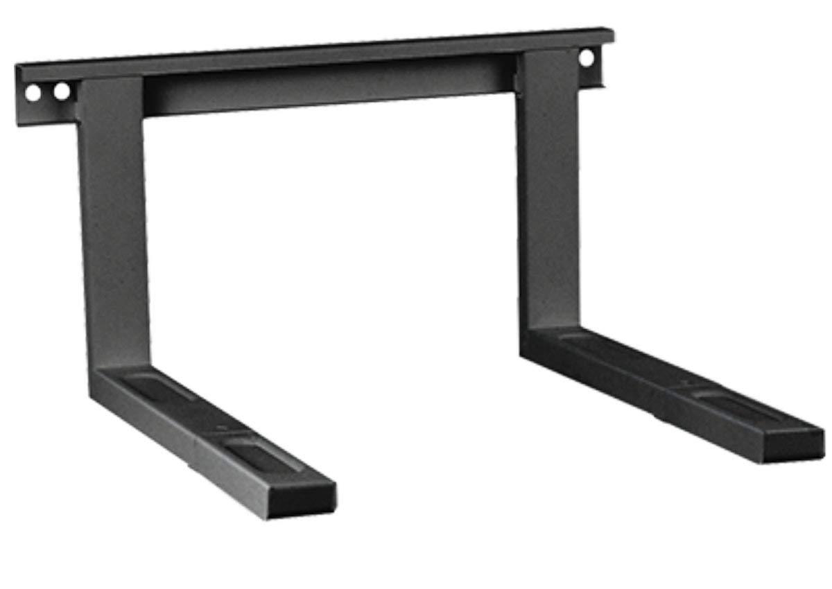 scaffale da parete estensibile 38,5 x 51 cm supporto da parete nero fino a 35 kg Supporto per forno a microonde supporto per forno a microonde incluso materiale di montaggio