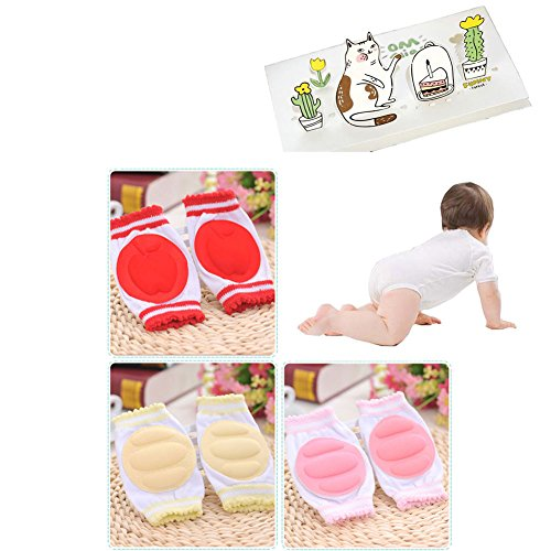 Price comparison product image Luckystaryuan 3 Pairs Infant Baby Knee Pad Girls Crawling Protector
