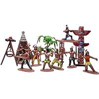Tomaibaby 13 Piezas Miniatura de Plástico Indio Figuras