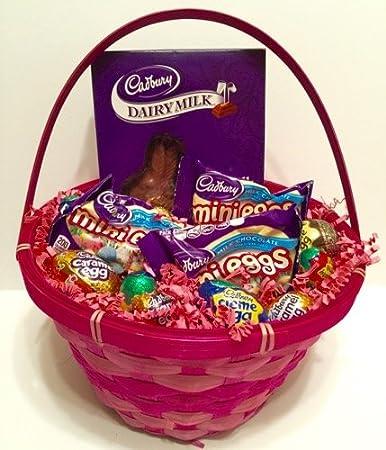 Amazon cadbury easter basket filled with creme eggs mini eggs cadbury easter basket filled with creme eggs mini eggs and a bunny negle Choice Image