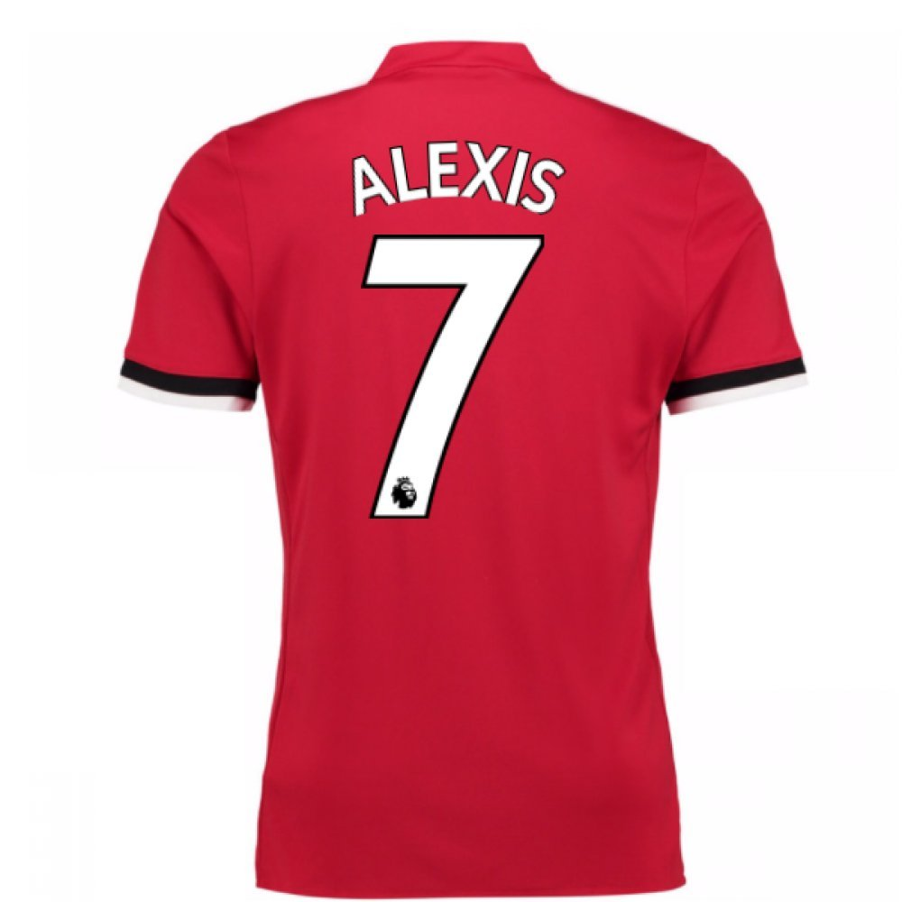 20Alexis Sanchez 77-20Alexis Sanchez 78 Man United Home Football Soccer T-Shirt Trikot (Alexis Sanchez 7)