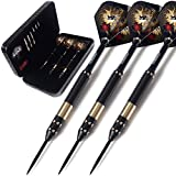 CUESOUL Dragon Deluxe Brass Steel Tip Darts Pack,21/23/25 Grams Darts Set-003