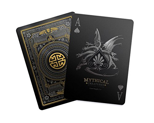 Gent Supply Mythical Creatures - Black Silver & Gold Edition Playing Cards