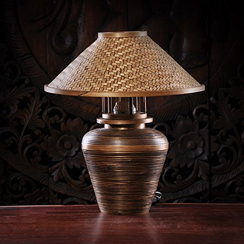 Thai bamboo round pass table lamps hand-made living room hotel room lighting lights home lighting ZA zb46