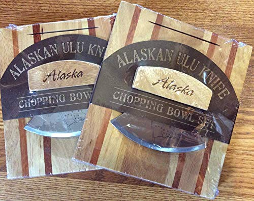 Alaskan Ulu Knife and Chopping Bowl Set of 2