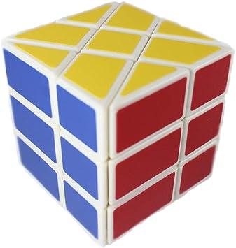 YJ Windmill Cube White 3 x 3 x 3 Shape Mod Twisty Puzzle Toy 3 x 3