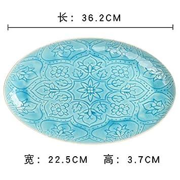 Plato de cerámica para pasta de frutas, caramelos, casa, gran pecera, plato