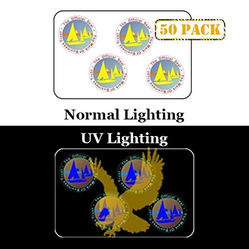 50 x Mark of Business ID Card Hologram Overlay with UV Eagle | IDOV_403E