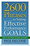 As a manager, you aren't truly successful unless your employees are as well. Helping them establish compelling, actionable performance goals is the first and most important step, and 2600 Phrases for Setting Effective Performance Goals is there to le...