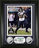 "NFL Seattle Seahawks Malcom Smith Super Bowl 48 Champions ""MVP"" Photo Minted Coin, 18"" x 14"" x 3"", Silver"