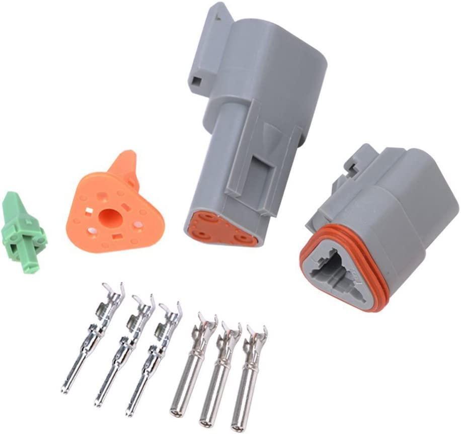 DT04-8P DT06-8S E-TING 5 Sets 8 Pin Way Car Waterproof Connector Electrical Wire Plug with Terminals