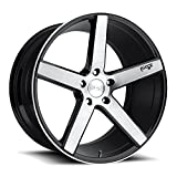 19' Inch Niche Milan Black / Brushed Face Wheels Rims Only | Set of 4 | Includes Free Wheel Club LA T-Shirt | Fits Audi Mercedes BMW Infiniti Dodge Cadillac Chevy Ford Lexus Nissan Hyundai