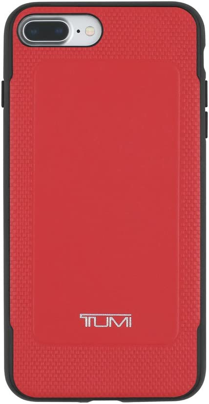 TUMI Leather Co-Mold Case for iPhone 7 Plus - Red Leather