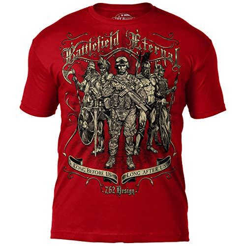 7.62 Design 'Battlefield Eternal' Men's Jumbo Print T-Shirt Scarlet 2X
