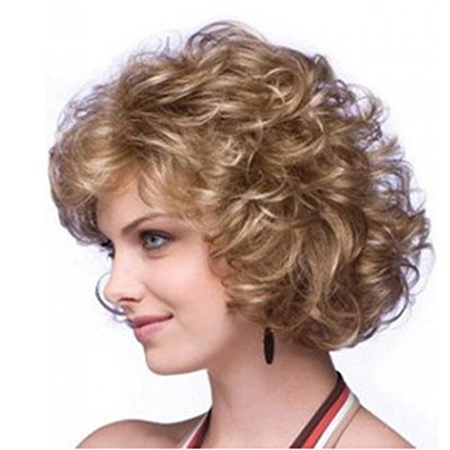 [Wigs, Hatop Curly Hair Short Paragraph Elegant Ladies Hood Atmospheric Fashion Wigs] (1950s Wig)