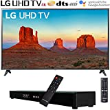 LG 75UK6190PUB 75' 4K HDR Smart LED UHD TV (2018 Model) w/Soundbar Bundle Includes, Deco Gear Home Theater Surround Sound 31' Soundbar and 6ft Optical Toslink 5.0mm OD Audio Cable