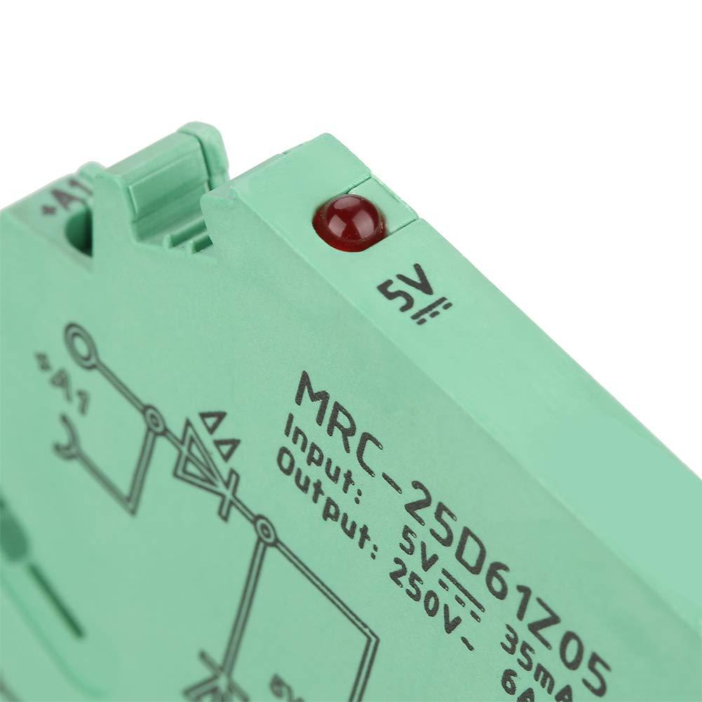 M/ódulo de rel/é de interfaz PLC ultrafino de 6,2 mm Rel/é PLC entrada de 5 V CC Salida 6A Contacto electromagn/ético TS35 Circuito de protecci/ón de placa de rel/é de interfaz de riel DIN