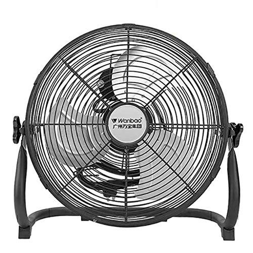 (Industrial High Velocity Orbital Drum Fan/Gym Floor Fan/Industrial Fan/Electric Fan Desktop with 3 Speeds and Adjustable Fan Head/Black)