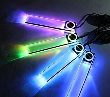 【 高級感 を 演出 する LED ライト 4本セット】 車 ドレスアップ 車内