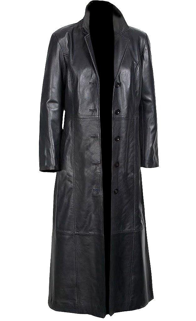 Gals Jacket Sheepskin, Women's Long Coat Black Glossy Original Leather, for Sale on Amazon